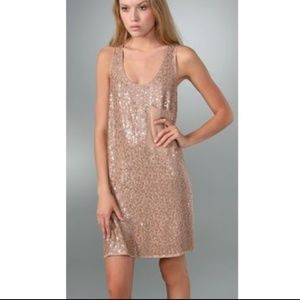 { ANTHROPOLOGIE } Beaded Nude Dress- NEW